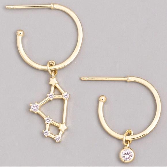 Jewelry - SAGITTARIUS Zodiac Gold Huggie Hoop Earrings